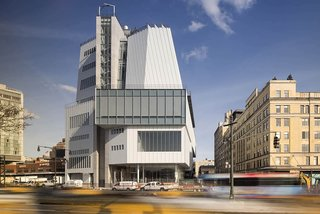 12 Renzo Piano Buildings We Love - Photo 2 of 12 - The Whitney Museum of American Art's Renzo Piano-designed building is a 200,000-square-foot exhibition replacement of Marcel Breuer's 1966 brutalist Upper East Side masterpiece.