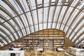 12 Renzo Piano Buildings We Love - Photo 5 of 12 - Imitating the form of an armadillo, this critically-acclaimed 23,000-square-foot, five-story structure houses offices, archives, exhibition space, and a 70-seat screening room that's dedicated to celebrating the legacy of the pioneering French film company.