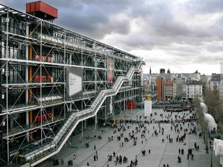 """12 Renzo Piano Buildings We Love - Photo 7 of 12 - National Geographic described  this design as """"love at second sight."""" The  Centre Georges Pompidou in Paris revolutionized museum design, showcasing a busy center for social activities and cultural exchanges. The building appears to be turned """"inside out,"""" revealing its inner workings."""