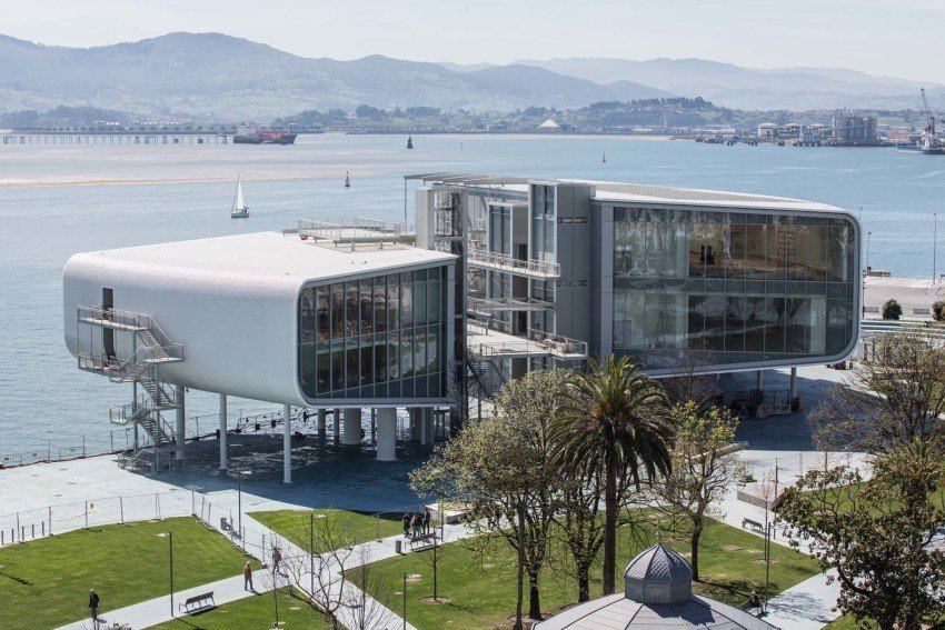 The Centro Botín will be the first building by Renzo Piano in Spain. It was designed as a permanent home for the art, cultural and educational programmes of Fundación Botín, Spain's most important private cultural foundation, and will open in Santander on Friday 23 June. The 10,285 sq m. Centro Botín is located on a landmark site on Santander's waterfront. Tagged: Exterior.  Photo 11 of 13 in 12 Renzo Piano Buildings We Love