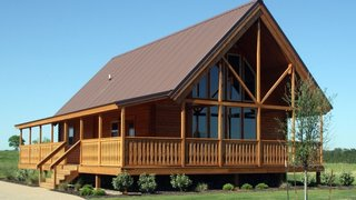 10 Prefab Log Home Companies - Photo 1 of 10 - Conestoga Log Cabins was originally established to construct simple, solid, and economical structures for the campground market. Families soon discovered the warmth and coziness of their cabins and asked to buy their own..