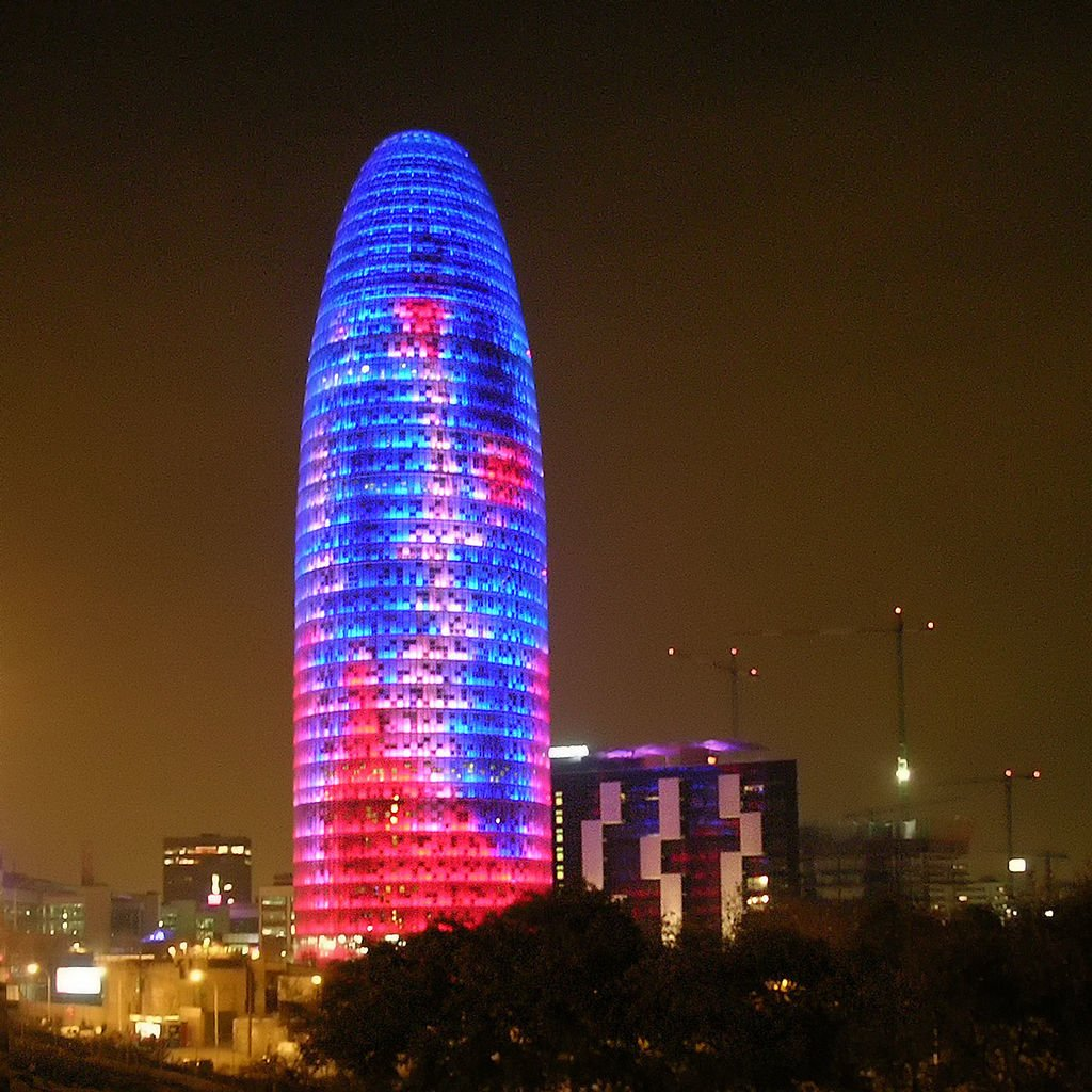 Inspired by the shape of a geyser rising into the air as well  as Montserrat, a mountain near Barcelonaas, Torre Agbar is the headquarters of Aguas de Barcelona (Agbar), Spain's municipal water company.  Photo 2 of 11 in 10 Jean Nouvel Buildings We Love