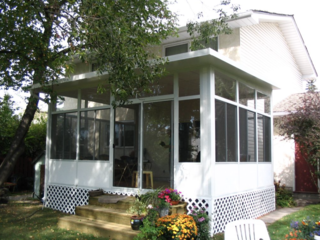 "Canadian-based Desert Sun Patios claims that a sunroom will add a ""60 to 70%"" return to your home investment. Their models are designed in heavy-duty, weather-proof materials engineered to temper those harsh Northern winters."