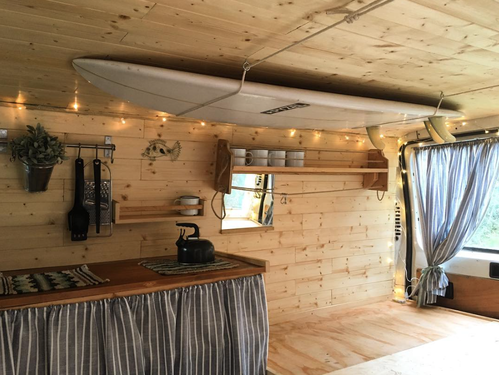 Hatti and Jake are on a roll in their minimalist wagon, in search of surf and soul along the European coast.  Photo 6 of 11 in 9 Adventure Seekers Who Celebrate Small Space Living Through the Van Life