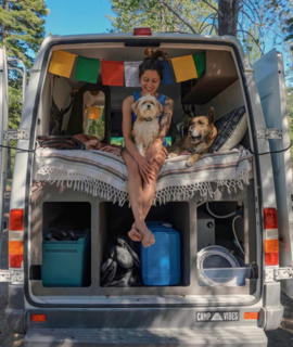 "9 Adventure Seekers Who Celebrate Small Space Living Through the Van Life - Photo 8 of 10 - ""Adventure culture isn't about privilege,"" says Noël Russell. She continues, ""It isn't about vacation with pay, or sponsored trips to the tropics, or alpine ascents (though, for some, it is). Adventure culture is a spirit of curiosity and awe. It's approaching the everyday—and the fantastic—with boldness and grit. I work at a homeless shelter, and every day is an adventure. My daily view doesn't fit the aesthetic of outdoor magazine ads or travelogues, but every day I get to explore new corners of people's hearts."""