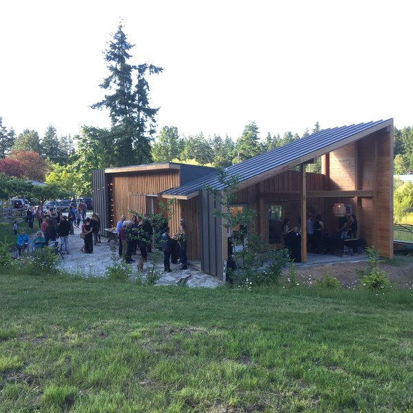 Modern home with outdoor and field. Inaugural gallery opening Photo  of Modern + Japanese timberframe