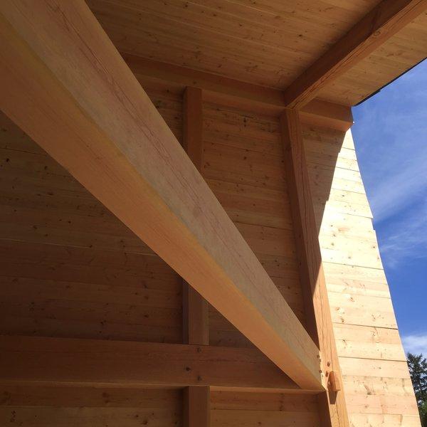 "frame with fir ""skin"" Photo 5 of Modern + Japanese timberframe modern home"