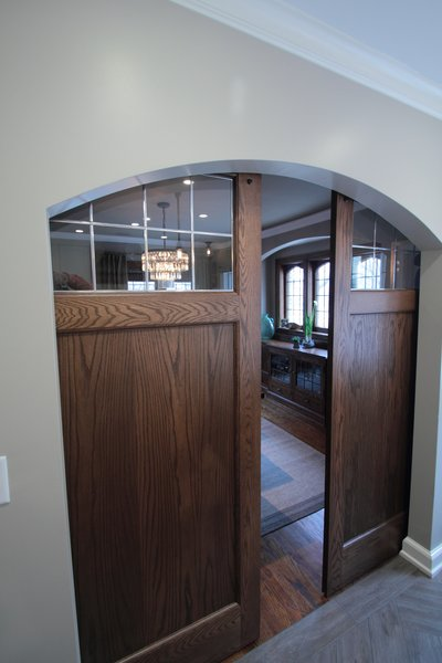 Barn doors  Photo 17 of Washington Highlands Home Renovation modern home