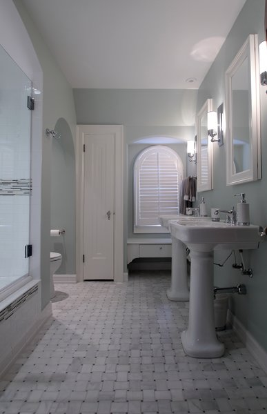 Tudor style bathroom remodel Photo 5 of Washington Highlands Home Renovation modern home