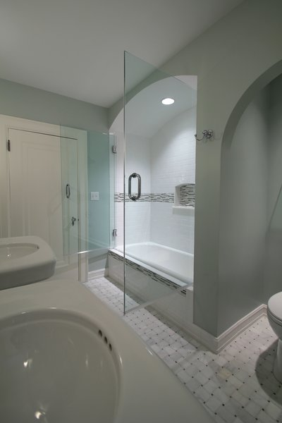 Tudor style bathroom remodel Photo 2 of Washington Highlands Home Renovation modern home