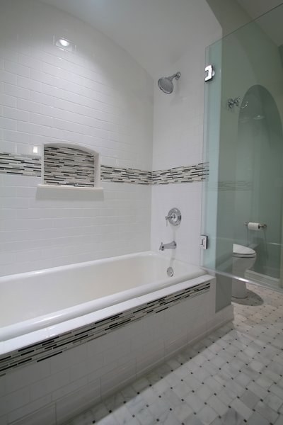 Tudor style bathroom remodel Photo 7 of Washington Highlands Home Renovation modern home