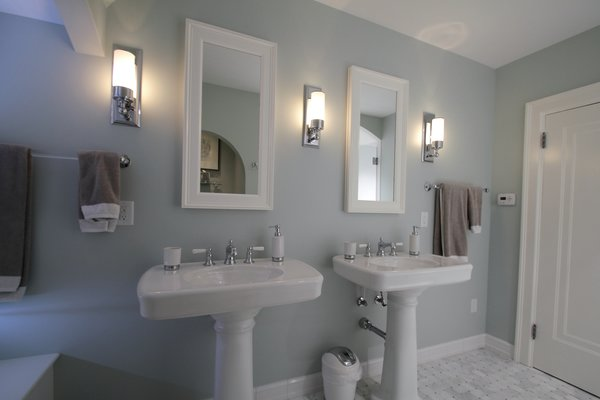 Tudor style bathroom remodel Photo 4 of Washington Highlands Home Renovation modern home
