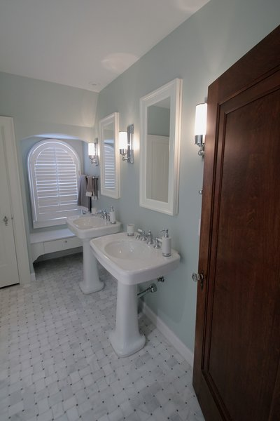 Tudor style bathroom remodel Photo 9 of Washington Highlands Home Renovation modern home