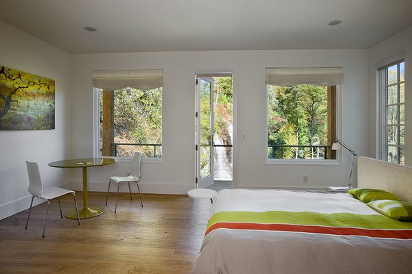 Sleep well. Photo 10 of Contemporary Timber Frame Home Overlooking Twin Waterfalls modern home
