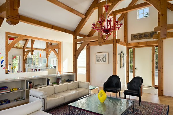 Relax and enjoy.  Photo 15 of Contemporary Timber Frame Home Overlooking Twin Waterfalls modern home