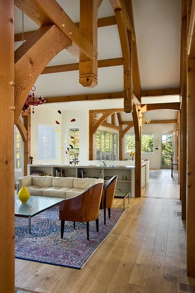 Photo 16 of Contemporary Timber Frame Home Overlooking Twin Waterfalls modern home