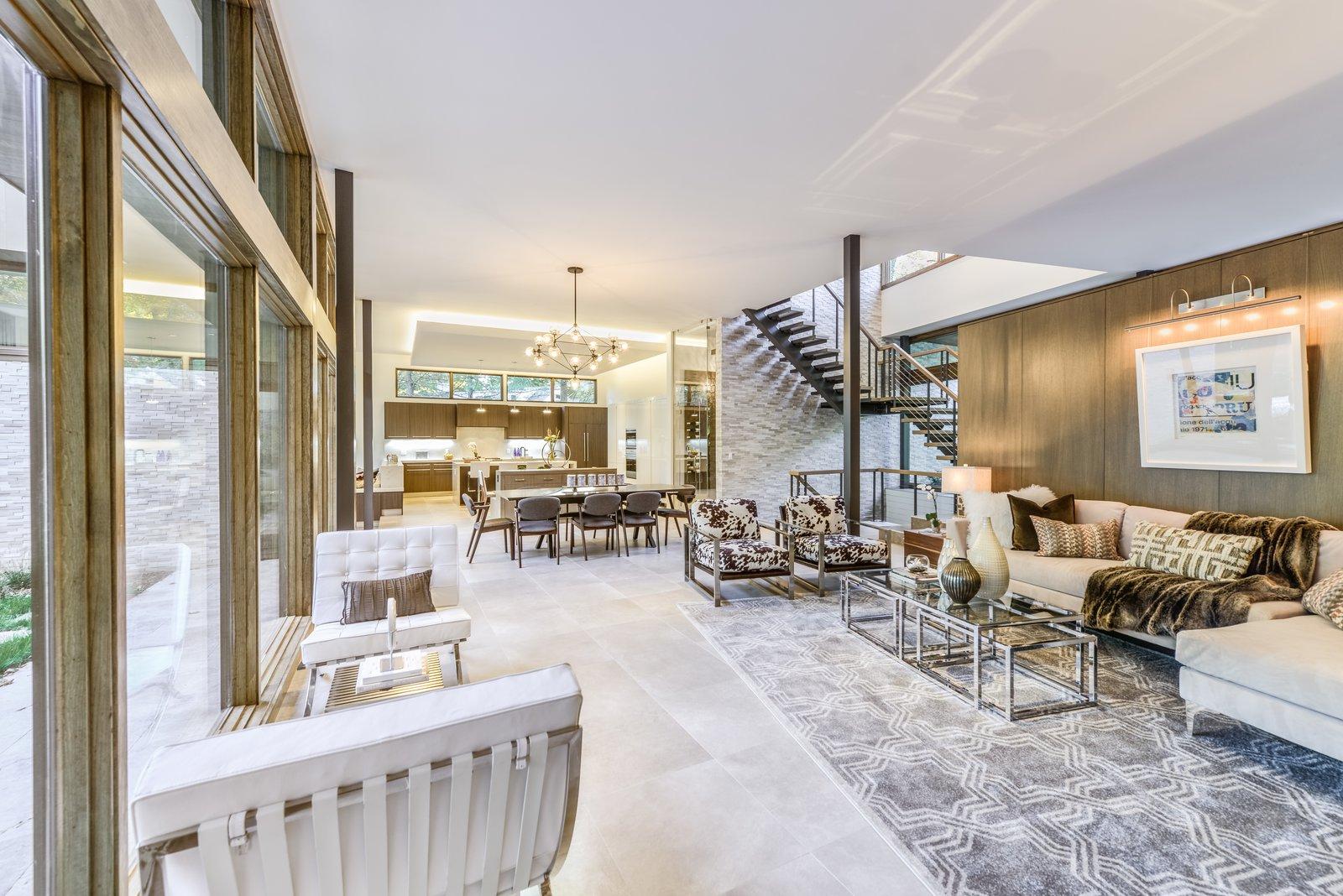 Open Concept Living Room  Ferndale by Melanie Oster Rosenbaum