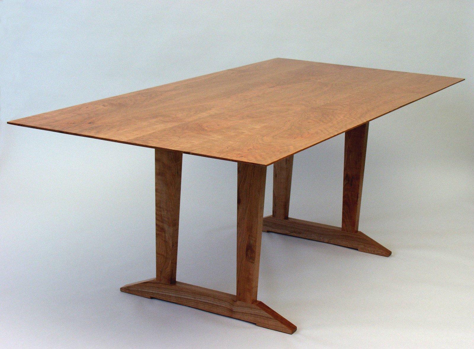 Cherry Trestle Table   Tables by Joe Breznick