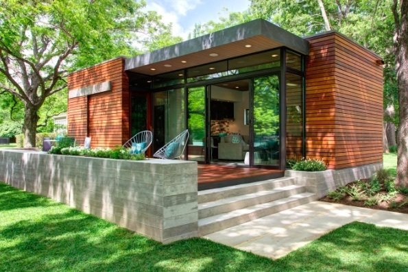 ICF walls, add solar, wind, water to home Photo  of Small Zero Energy Off Grid Sustainable Home modern home