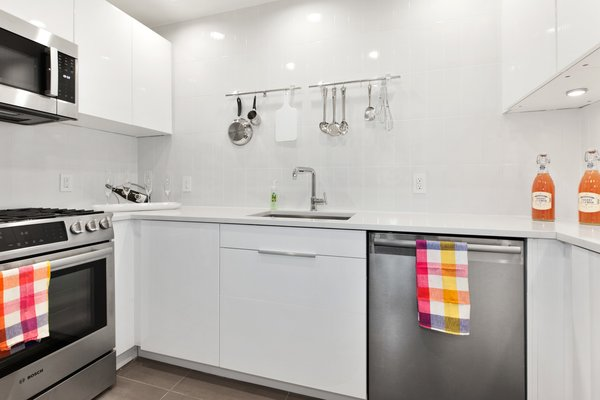 Small and Efficient New York Kitchen Photo  of Maximizing Small Space modern home