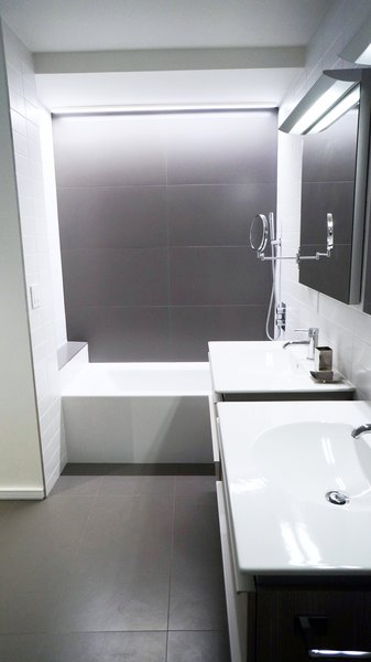 Master bathroom Photo  of Duplex Apartment Gut Renovation modern home