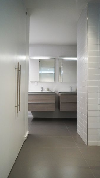 Master Bathroom Photo 6 of Duplex Apartment Gut Renovation modern home