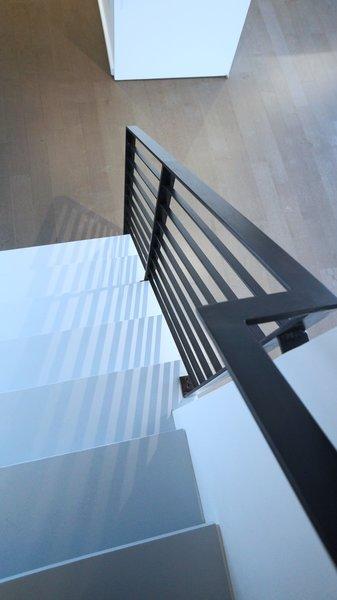 Custom steel railing detail Photo 4 of Duplex Apartment Gut Renovation modern home