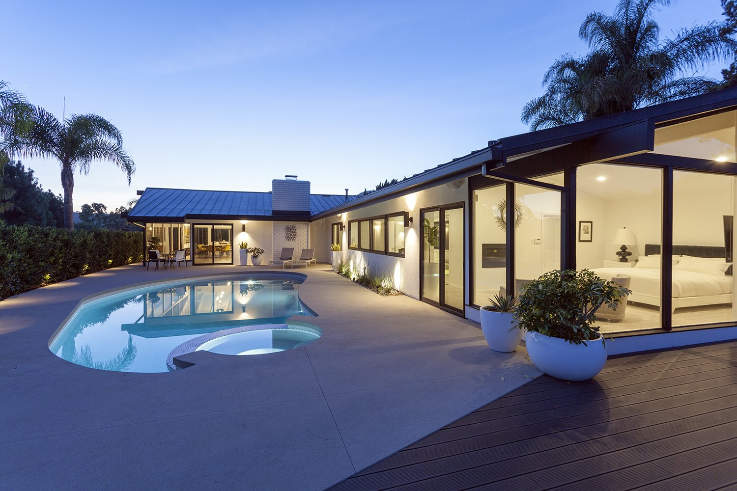 View from backyard  Thomas Residence by Lincoln Chung Architect