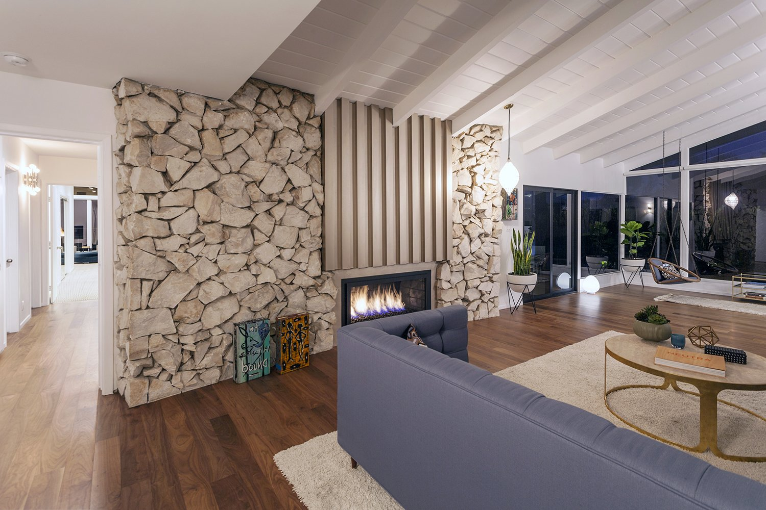 Fireplace  Thomas Residence by Lincoln Chung Architect
