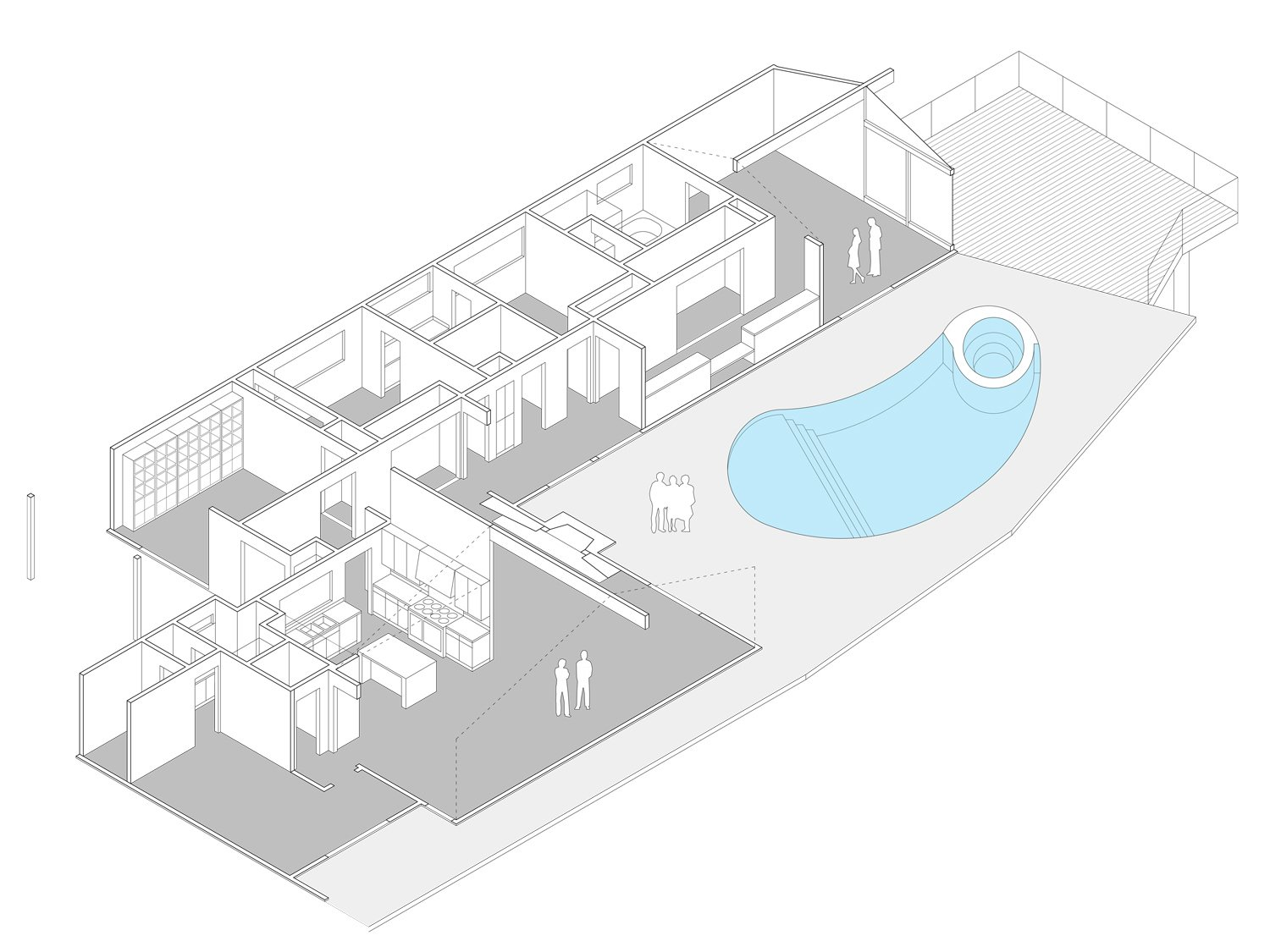 Isometric  Thomas Residence by Lincoln Chung Architect