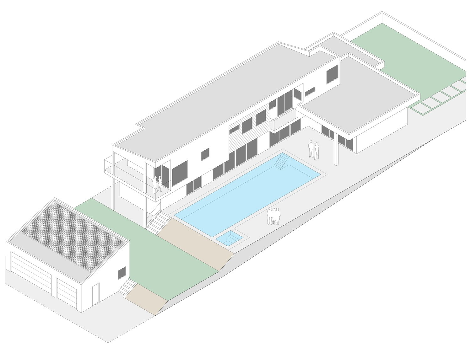 Isometric  Yale St Residence by Lincoln Chung Architect