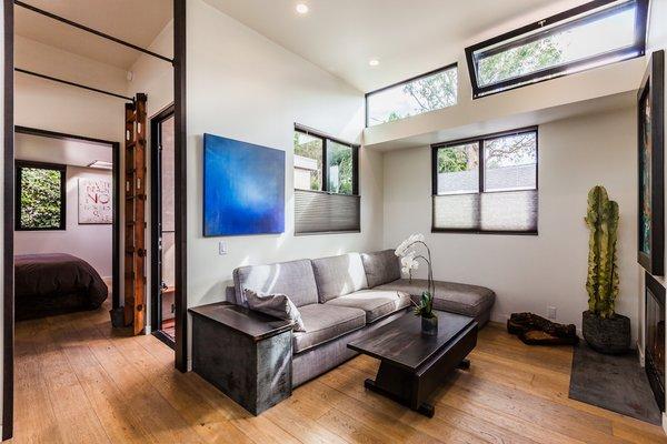 French Oak Floors in Living Room Photo 3 of Reclaimed Malibu Modern modern home