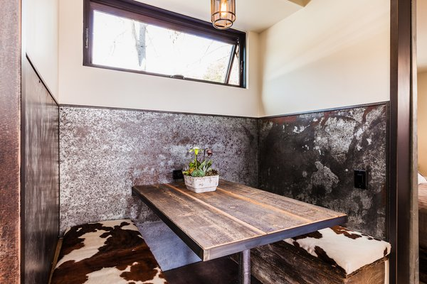 Dining Nook with Reclaimed Woods and Steel