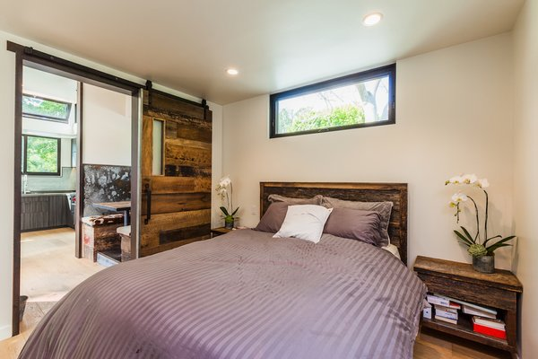 Master Bed With Sliding Barn Door