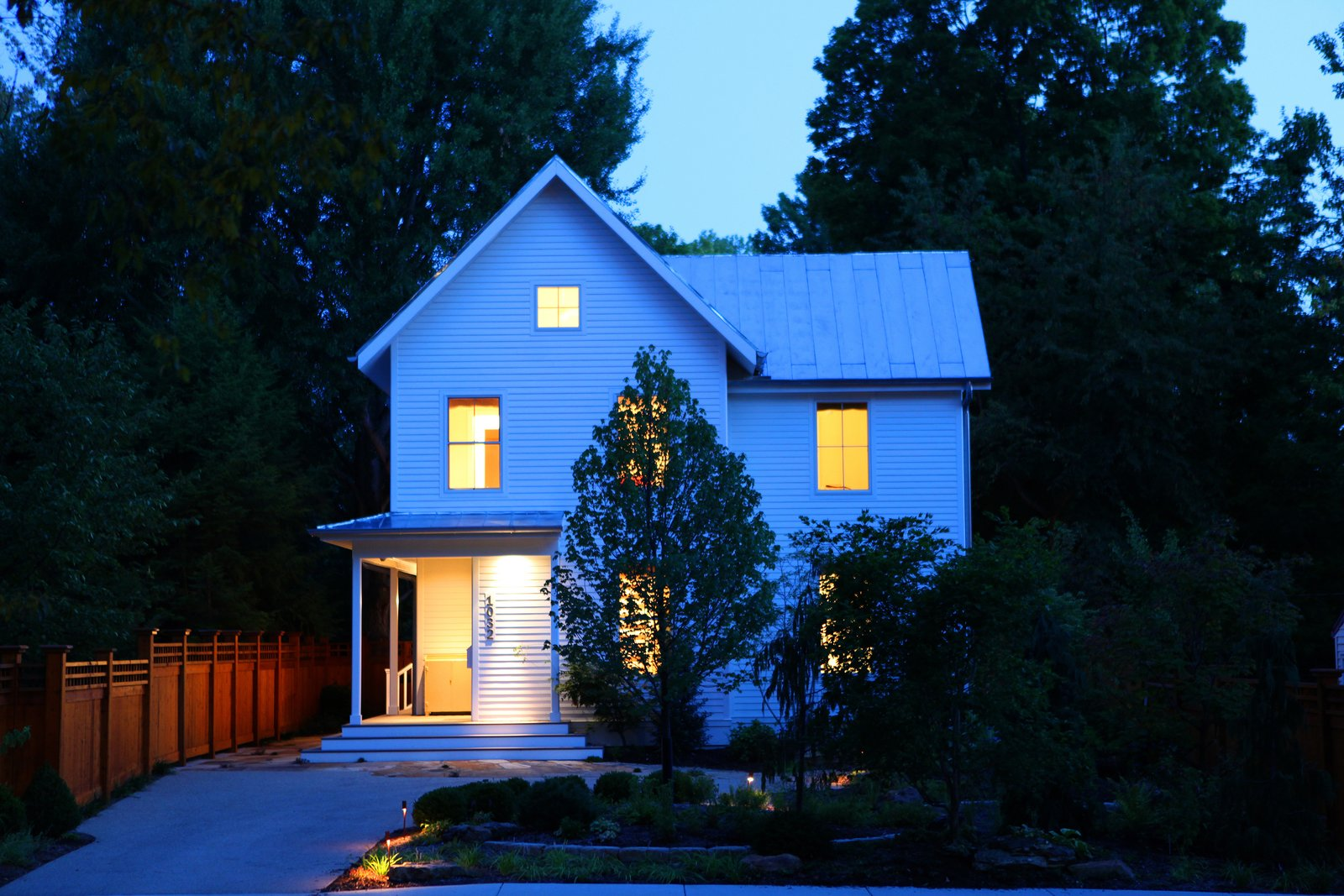 Tagged: Exterior, Farmhouse Building Type, Metal Roof Material, Gable RoofLine, and House.  Urban Farmhouse by ONE 10 STUDIO Architects