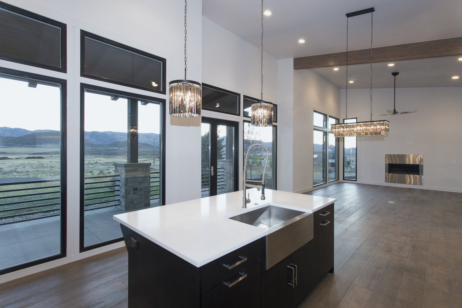 Sweeping views of ski resorts from front great room  Palisades 14 by The Muve Group