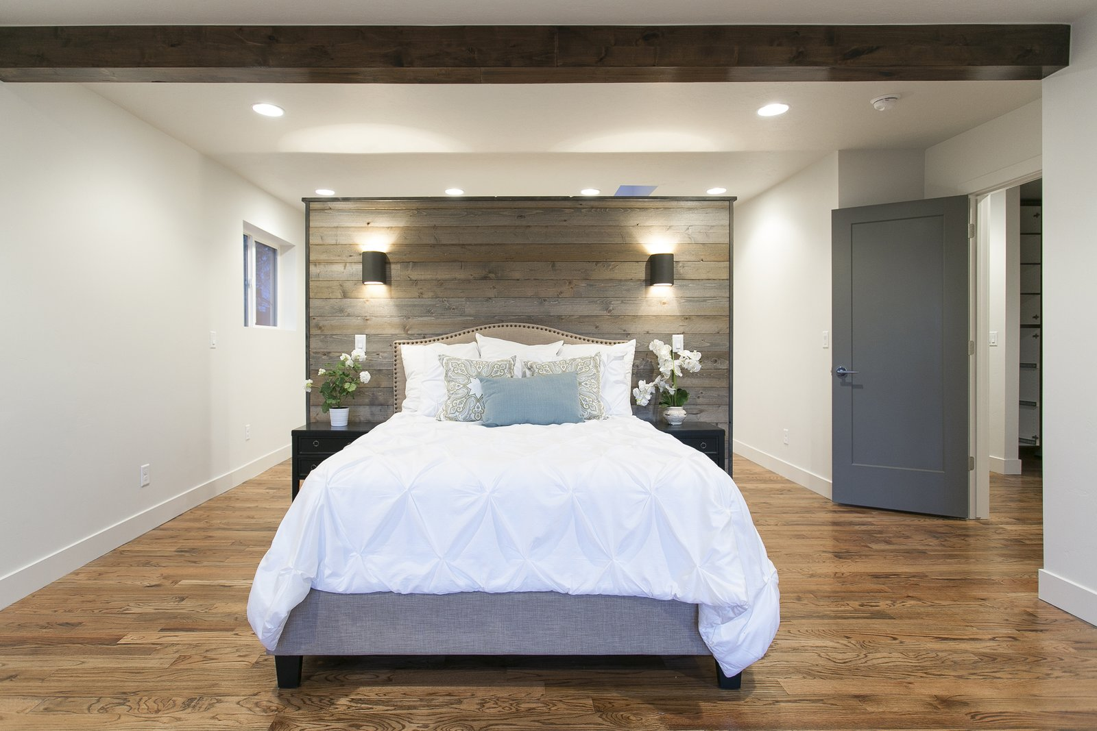 The master bedroom has been laid out so this partition wall doubles as a headboard and a wall for you master closet. Easily accessble  no matter what side of the bed you wake up on.  King of the Wasatch by The Muve Group