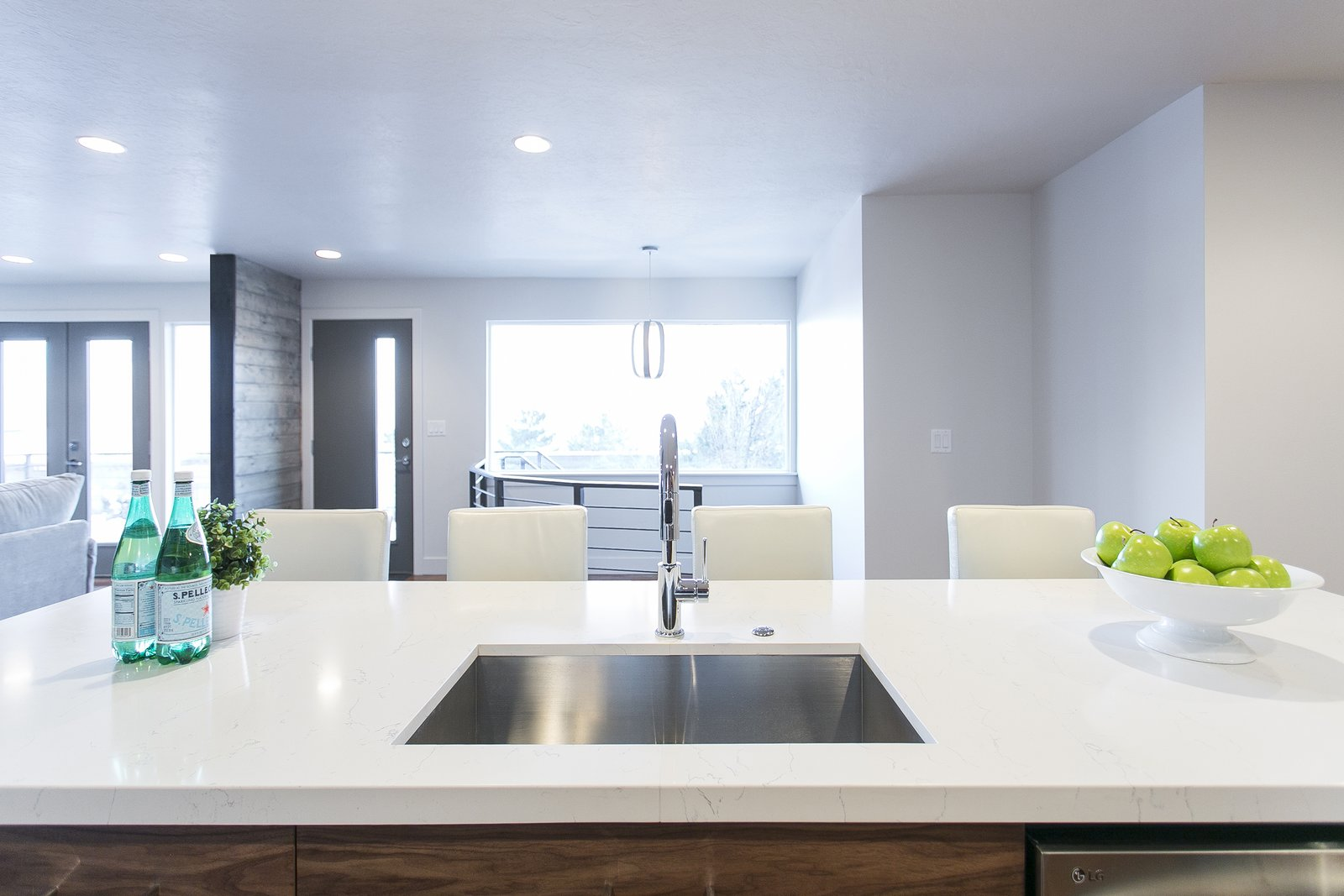 View from kitchen island overlooking the Salt Lake Valley.  King of the Wasatch by The Muve Group