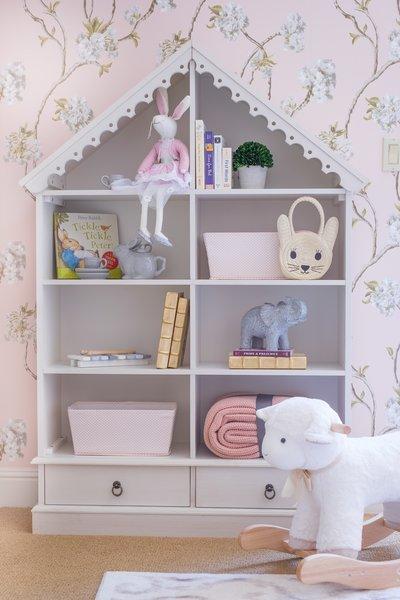 Dollhouse Cabinet Photo 4 of A Nursery in Los Gatos, California modern home