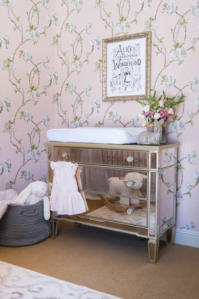 Mirrored Dresser and Changing Table Photo 5 of A Nursery in Los Gatos, California modern home