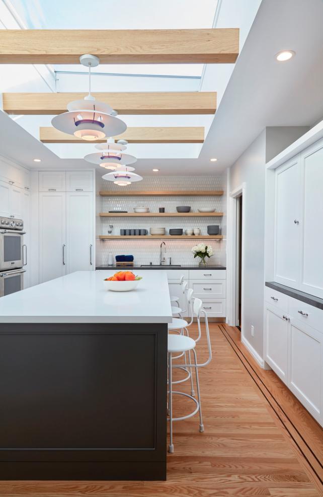 Light, white and bright. - Danish design mantra  A Danish Inspired Kitchen by Benjamin Farrell