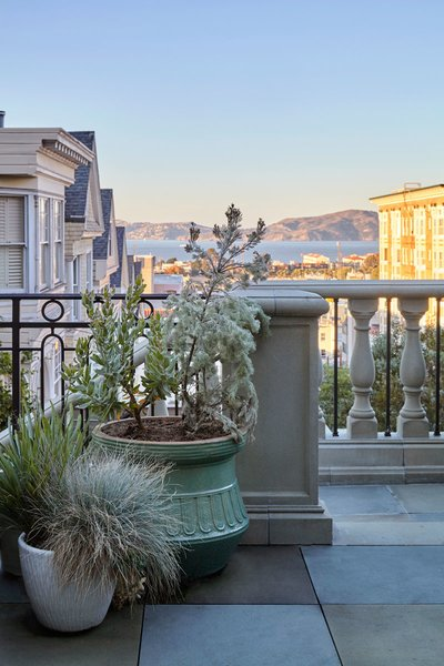 Peek-a-boo views of Angel Island out in San Francisco Bay. Photo 7 of Pacific Heights Historic Renovation modern home