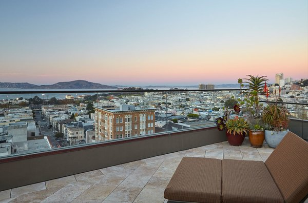 Broad sweeping views of the San Francisco Bay that you only get on the coveted North slope of Pacific Heights. It's amazing up here. Photo 8 of Pacific Heights Historic Renovation modern home