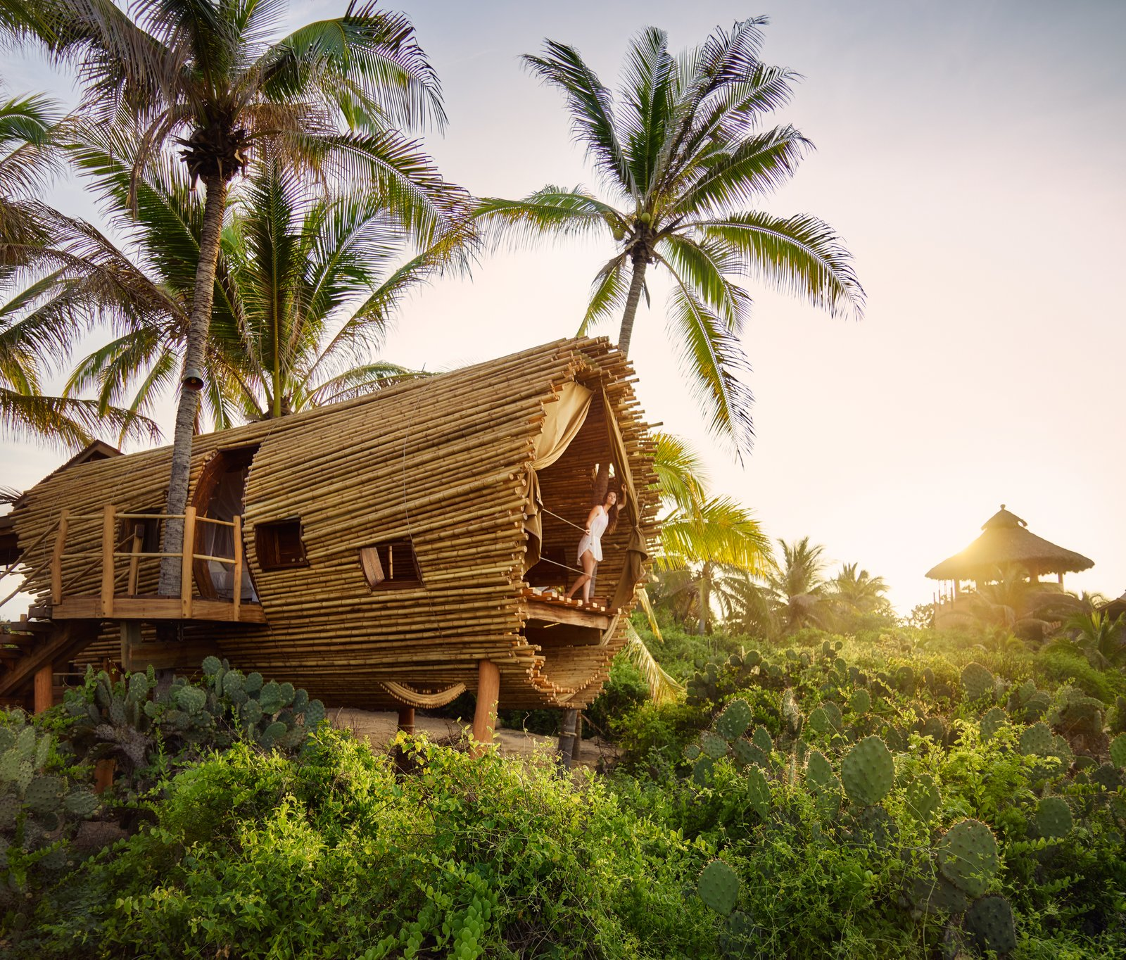 The Playa Viva tree house by ArtisTree Tagged: Exterior and Treehouse Building Type.  Photo 12 of 16 in Experience Tree-Top Living at One of These Sustainable Tree Houses