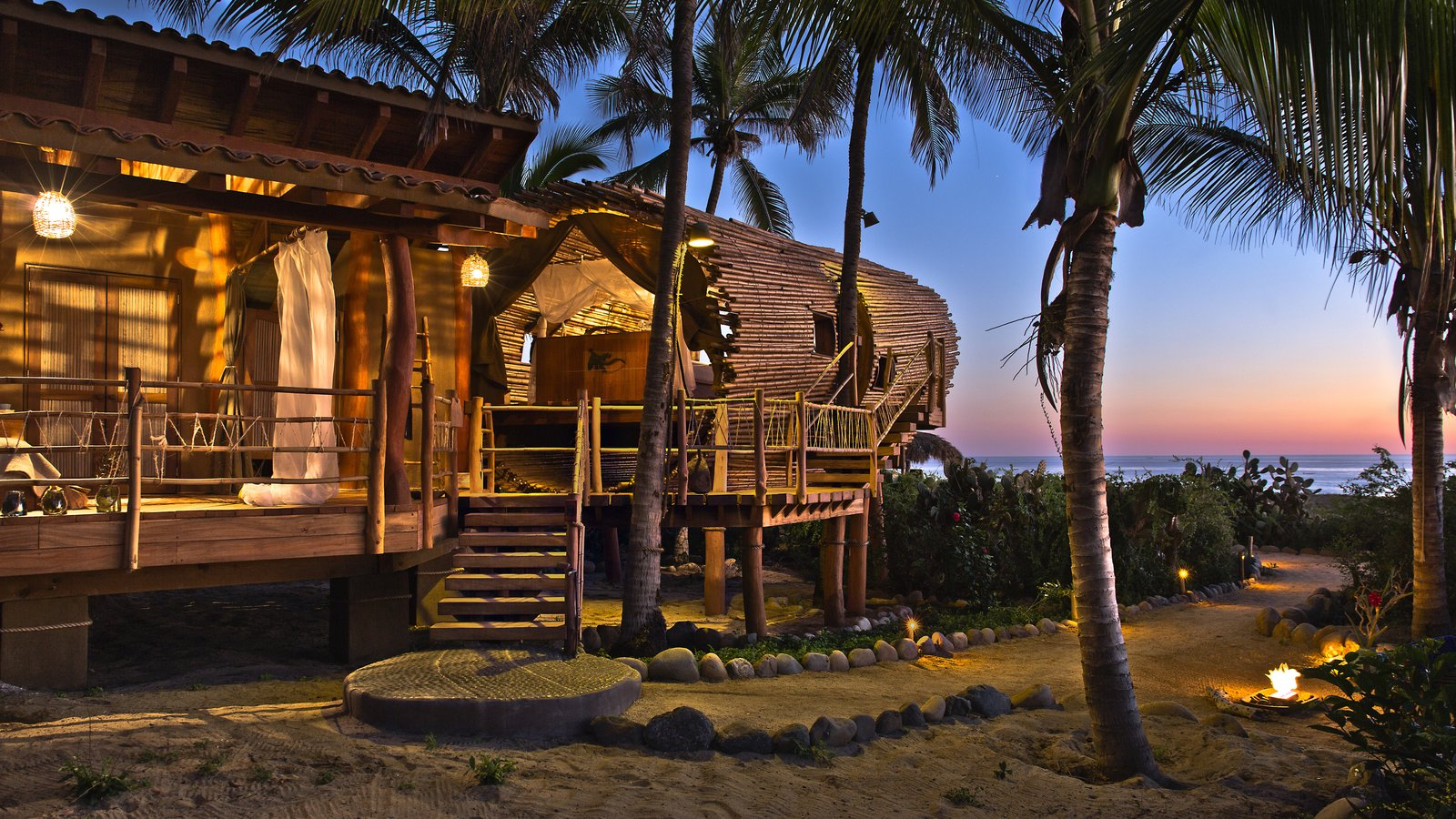 The Playa Viva tree house by ArtisTree Tagged: Exterior and Treehouse Building Type.  Photo 16 of 16 in Experience Tree-Top Living at One of These Sustainable Tree Houses