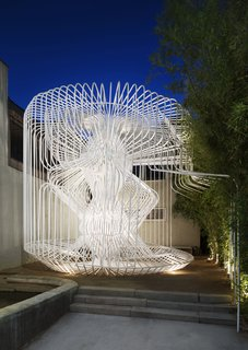 Celebrate Compact and Low-Budget Design With the the AIA Small Project Awards - Photo 7 of 7 - La Cage aux Folles in Los Angeles by Warren Techentin Architecture won a 2017 award for its exploration of a complex structure made out of bent-steel tubes.