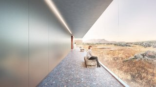 A Proposed Icelandic Resort Celebrates Wellness and its Magical Surroundings - Photo 8 of 18 - Walkways and tunnels connect the different spaces and activities while still emphasizing views and connections to the land beyond.