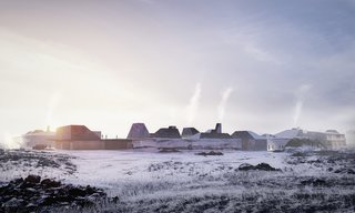 A Proposed Icelandic Resort Celebrates Wellness and its Magical Surroundings - Photo 2 of 18 - The view approaching the resort, which is almost magically revealed when one arrives to the complex.