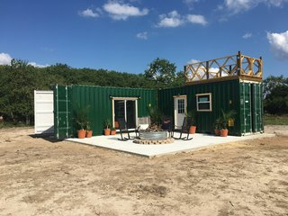 10 Shipping Container Homes You Can Buy Right Now - Photo 7 of 10 - Workshop and Golf Tees by Back Country Containers