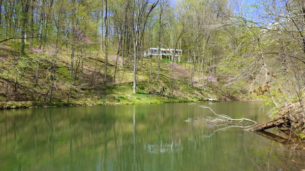 View from the lake. Photo  of Phelps Residence modern home